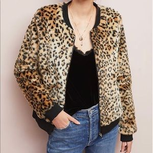 Skies Are Blue Leopard Coat